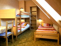 Facilities: Bunk bed, single bed, table with two chairs and a sofa (140cm x 65cm sleeping space)