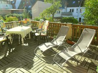 22 m² big terrace with garden furnitures and parasol